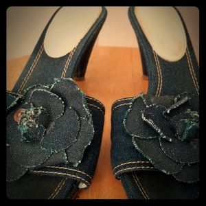 Chanel Denim Sandels size 8.5